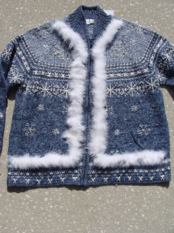 Funny Ugly Christmas Sweater with Nordic 2sided Snow