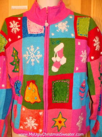 Funny Pink 2sided Bling Ugly Christmas Sweater