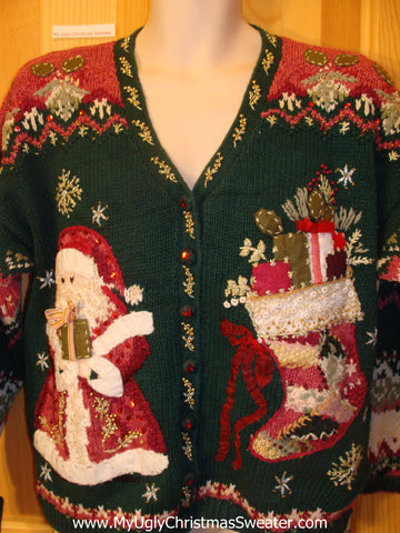 Funny Ugly Christmas Sweater 80s Geometric Mess