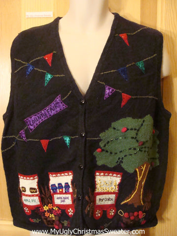 Funny Ugly COUNTRY FAIR Themed Sweater Vest