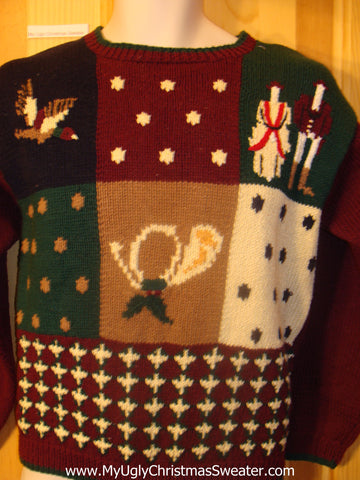 Ugly Christmas Sweater 80s with Padded Shoulders