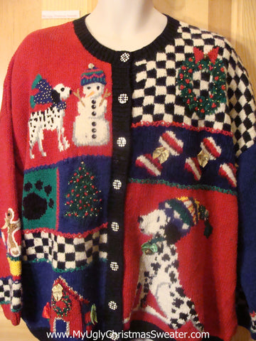 Holy Grail of Ugly Christmas Sweater with Dogs  XXXL