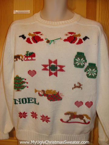 Funny Christmas Sweater with Dueling Santas