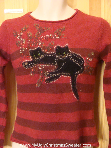 Child Size Funny Christmas Sweater with Cats