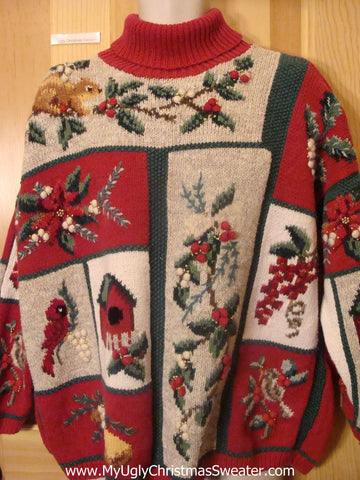 Funny Christmas Sweater Pullover with Mind Numbing Decorations