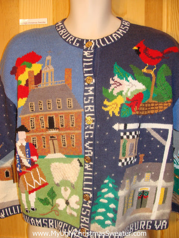 Funny Christmas Sweater Williamsburg Holiday