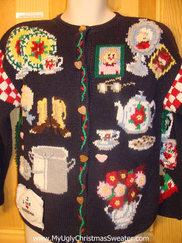 Gift for Grandma Best Funny Christmas Sweater
