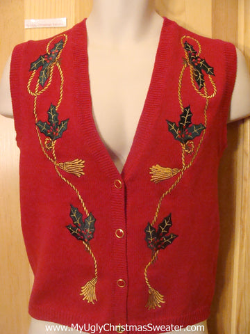 Funny Christmas Sweater Vest Child Size