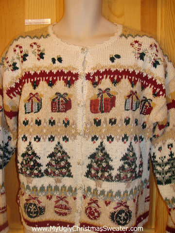 Cheesy Christmas Jumper Sweater 2sided Mess