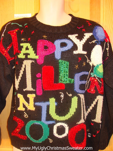 New Years 2000 Cheesy Christmas Jumper Sweater