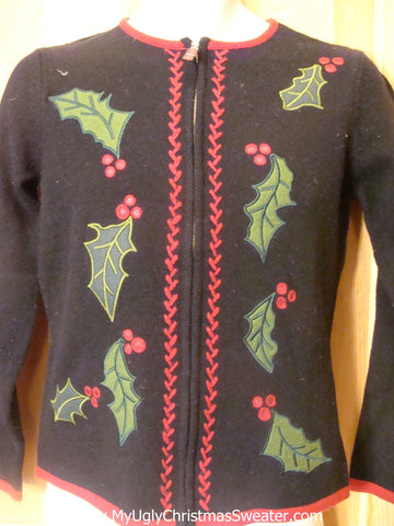 Cheesy Christmas Jumper Sweater Ivy and Berries