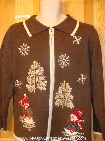 Cheesy Brown Cute Christmas Jumper Sweater
