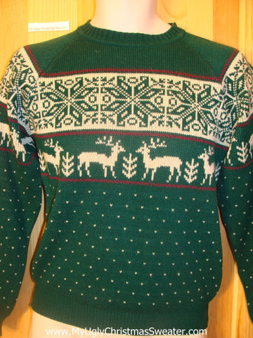 Vintage Reindeer Cheesy Christmas Jumper Sweater