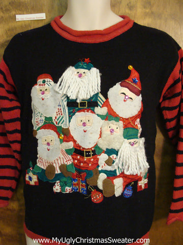 Cheesy Christmas Jumper Sweater with Yarn Beards