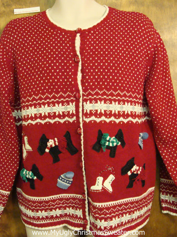 Dog Themed Cheesy Christmas Jumper Sweater
