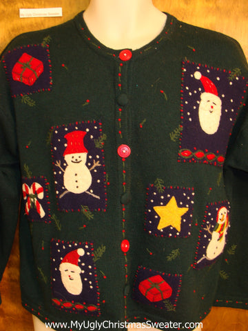 Crafty 2sided Cheesy Christmas Jumper Sweater