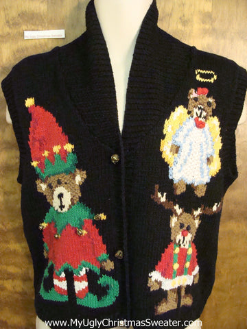 Best 2sided 80s Cheesy Christmas Sweater Vest
