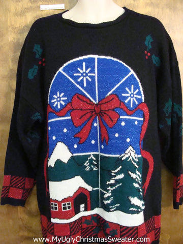Nighttime in the Country Cheesy Christmas Jumper Sweater
