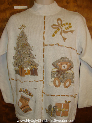 White Cheap Cheesy Christmas Jumper Sweater
