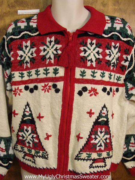 new appearance fashionablestyle 2018 sneakers 80s Nordic Cheesy Christmas Jumper Sweater with Trees