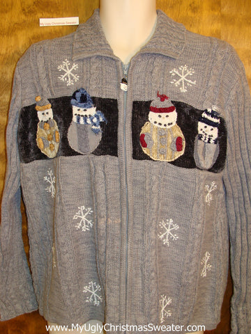 Ridiculous Snowman Cheesy Christmas Jumper Sweater