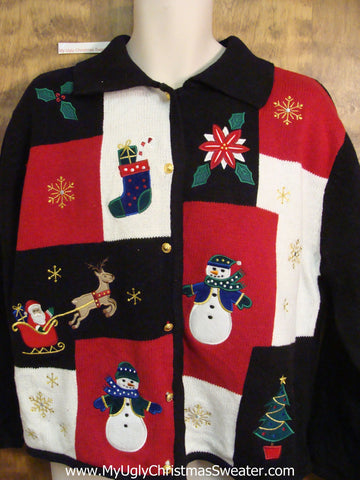 Patchwork Beauty Cheesy Christmas Jumper Sweater