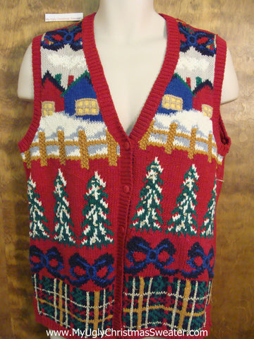 Cheap Cheesy Christmas Sweater Vest