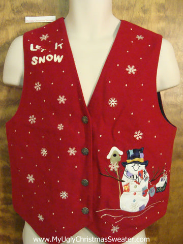 Cheesy Christmas LET IT SNOW Vest