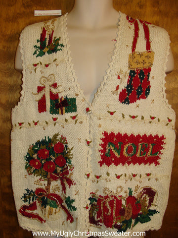 Horrible 80s Christmas Jumper Sweater Vest