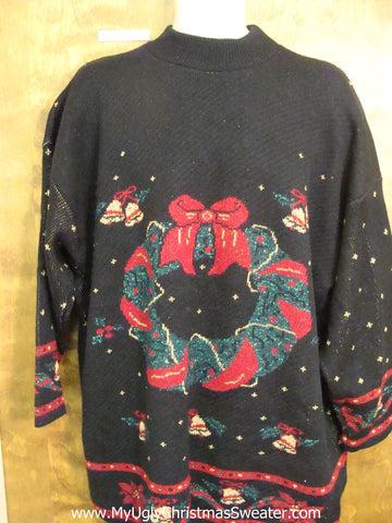 Ugly Festive Xmas Sweater 3XL 80s Knit