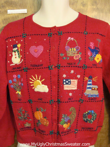 All Season Holidays Ugly Festive Xmas Sweater