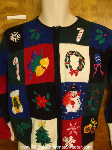 Patchwork Colorful Ugly Festive Xmas Sweater