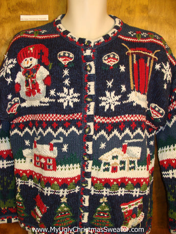 Awesome 2sided Horrible Ugly Xmas Sweater
