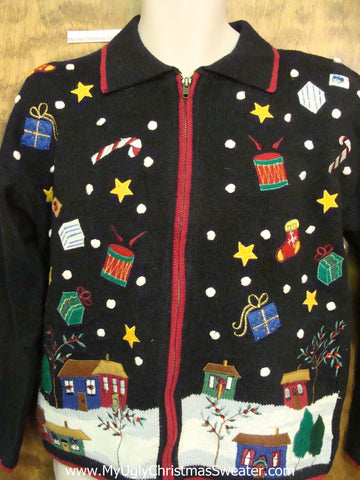 Falling Gifts Ugly Festive Xmas Sweater