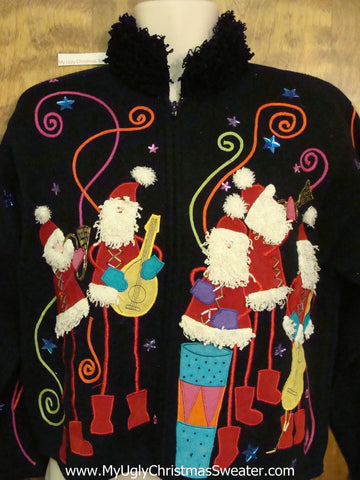 Best Ugly Christmas Sweater Santa Conga Band