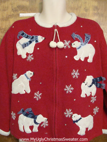 Polar Bear Club Ugly Festive Xmas Sweater