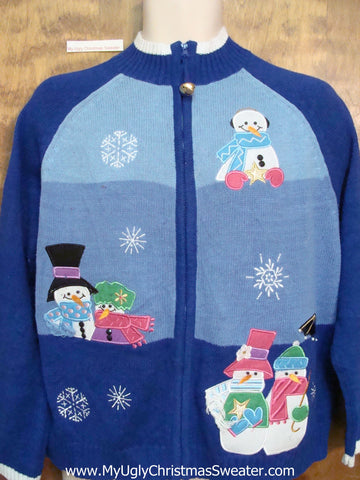 Snowman Love Theme Ugly Festive Xmas Sweater