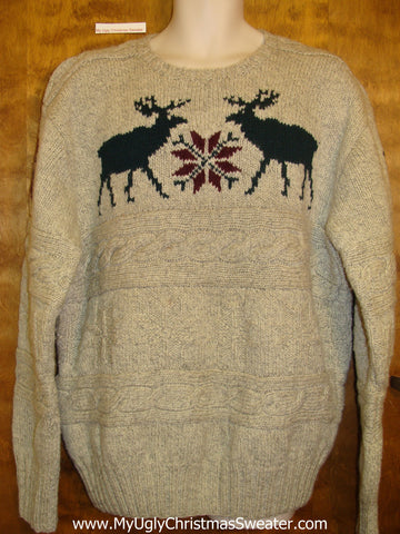 Polo Ralph Lauren Reindeer Mens Ugly Chrsitmas Sweater
