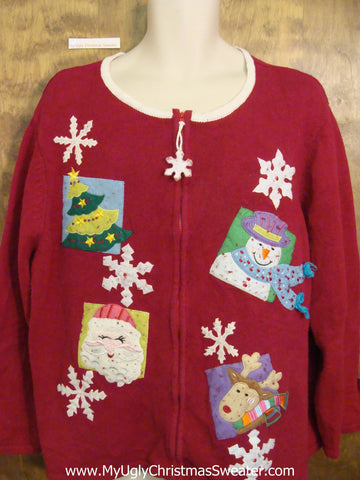 Best SIlly Ugly Festive Xmas Sweater 2xl