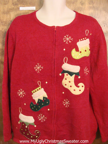 Crazy Stockings 3xl Ugly Festive Xmas Sweater