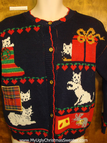 Funny Cats 80s Ugly Christmas Sweater