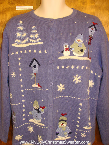 2sided Winter Wonderland Ugliest Christmas Sweater