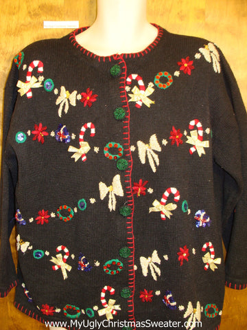 Ugliest Christmas Sweater  XXXL Colorfuly Garland