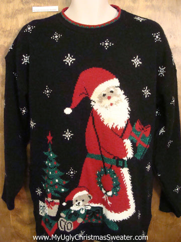 Super Santa 80s Ugliest Christmas Sweater