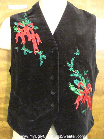 Super Cheap Ugliest Christmas Velvety Vest