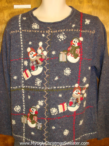 Snowmen and Gifts Ugliest Christmas Sweater