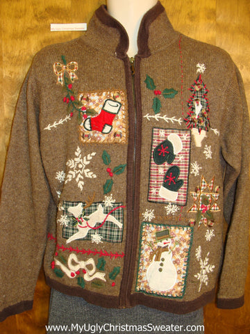 Ugliest Brown Christmas Sweater