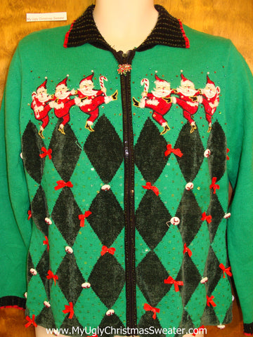 Amazing Green 80s Ugliest Christmas Sweater