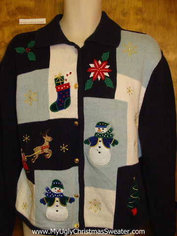 Cheap Random Blocks Ugliest Christmas Sweater