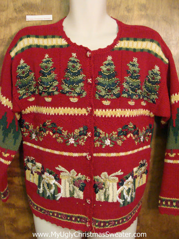 Geometric Mess 2sided Ugliest Christmas Sweater
